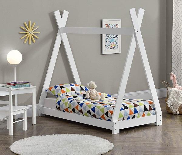 cama casa niño montessori carpa de indio