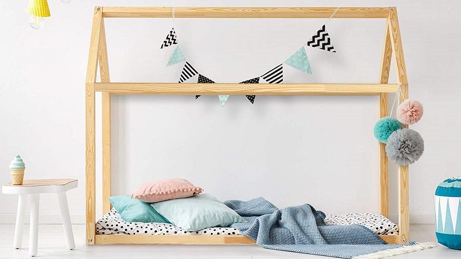 cama casita montessori niños DFM barata
