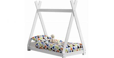 cama casita montessori para niños estilo tipi