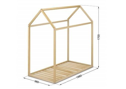 estructura cama casa montessori niños
