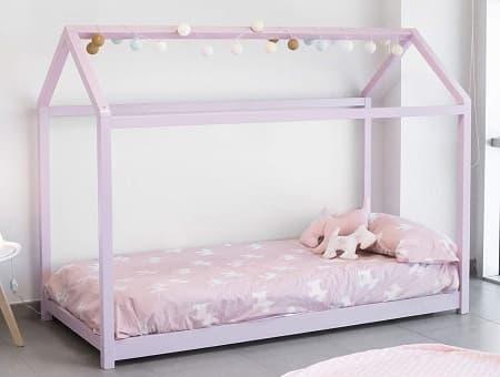 Cama casa Montessori rosa